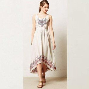 Anthro Holding Horses Cissie Embroidered Dress 4